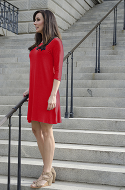 3/4 Sleeve Dress - Poppy