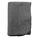 Charcoal - Cotton Flannel Throw