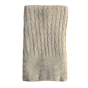 Wheat - Camel - Bamboo Cable Knit Blanket
