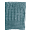 Lagoon - Blue - Bamboo Cable Knit Blanket