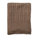 Gingerbread - Brown - Bamboo Cable Knit Blanket