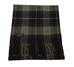 Country Check Navy - Lambswool Scarf