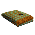 Mint/Tan - Merino Wool and Mohair Throw