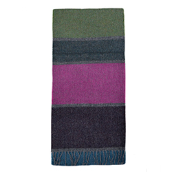 Cormullen Color Block -  Lambswool Scarf
