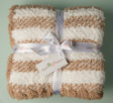 Taupe - Stripe Baby Blanket