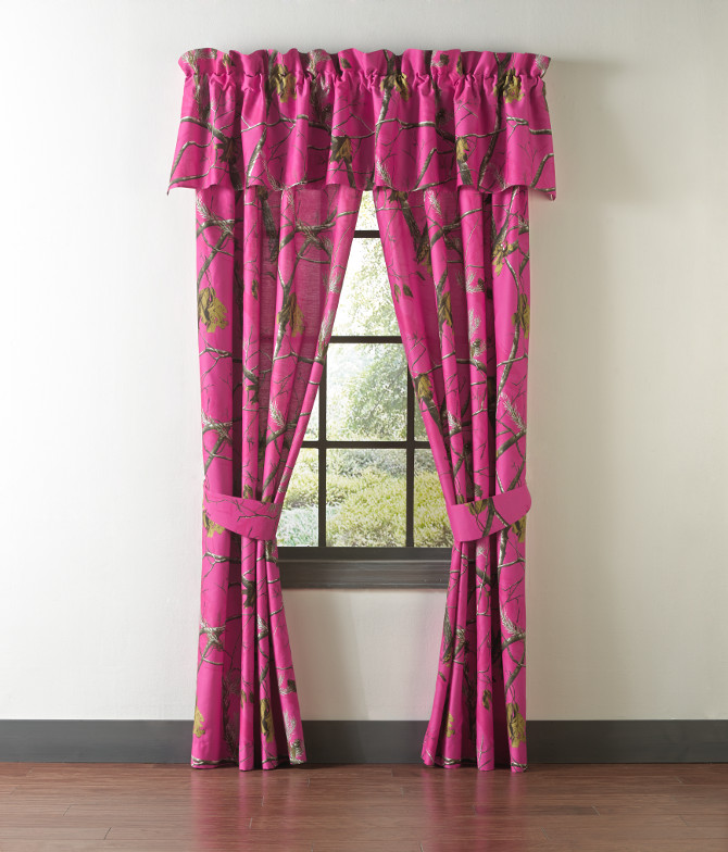 How Do You Hang Curtains In A Bay Window Pink Realtree Camo Lamp