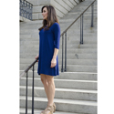 3/4 Sleeve Dress - Navy